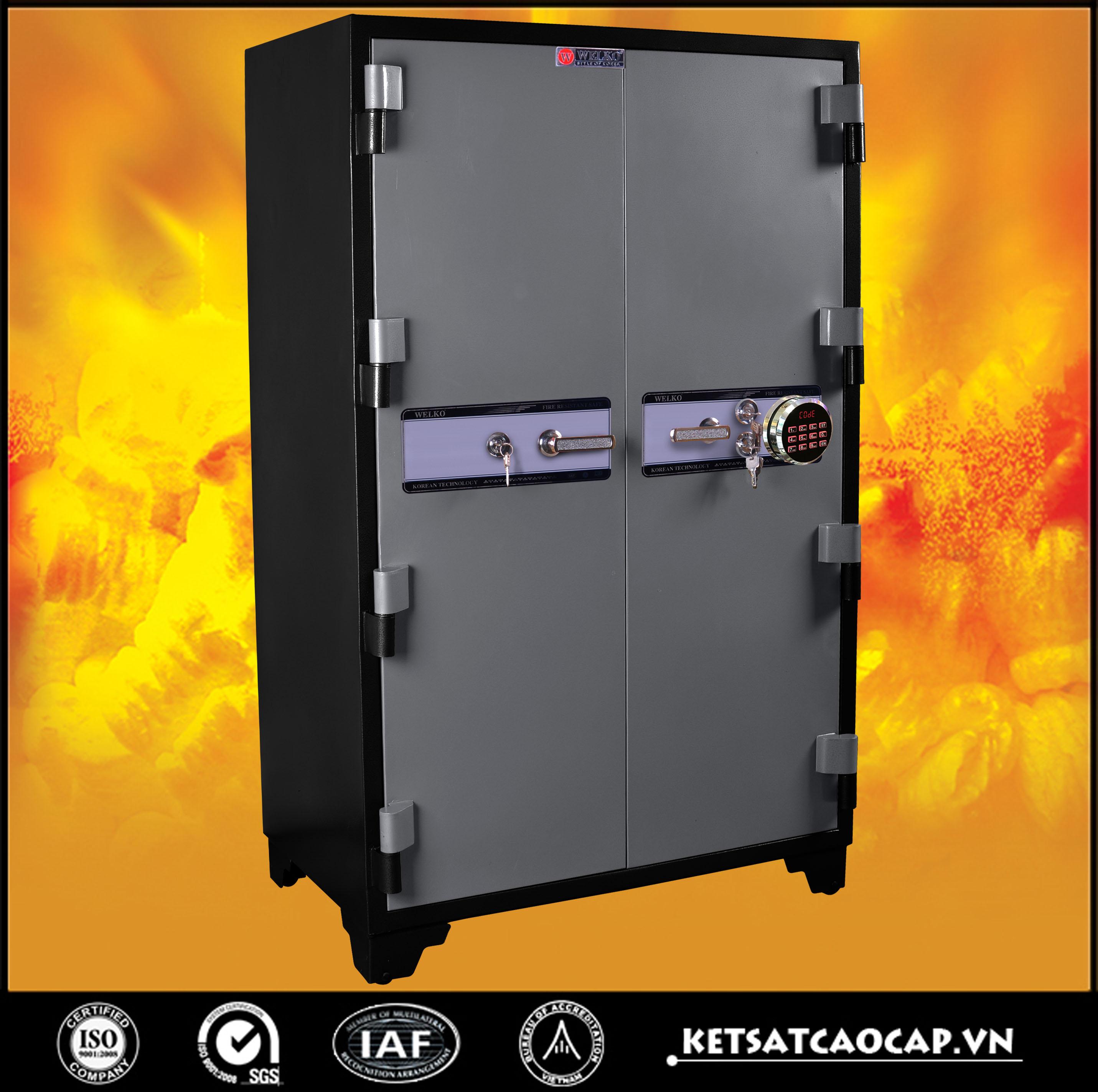 đặc điểm sản phẩm Két Bạc chống cháy BM1650 điện tử