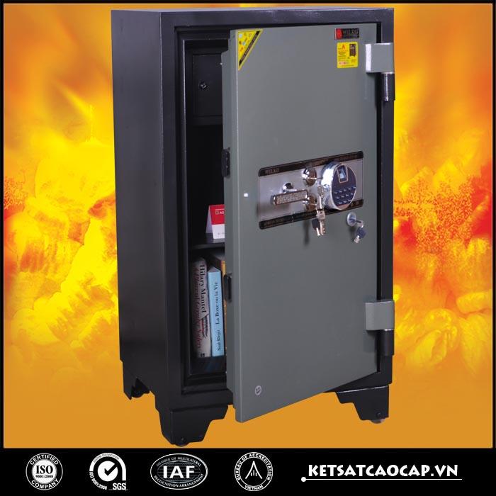 đặc điểm sản phẩm Két sắt chống cháy kcc200 khóa vân tay