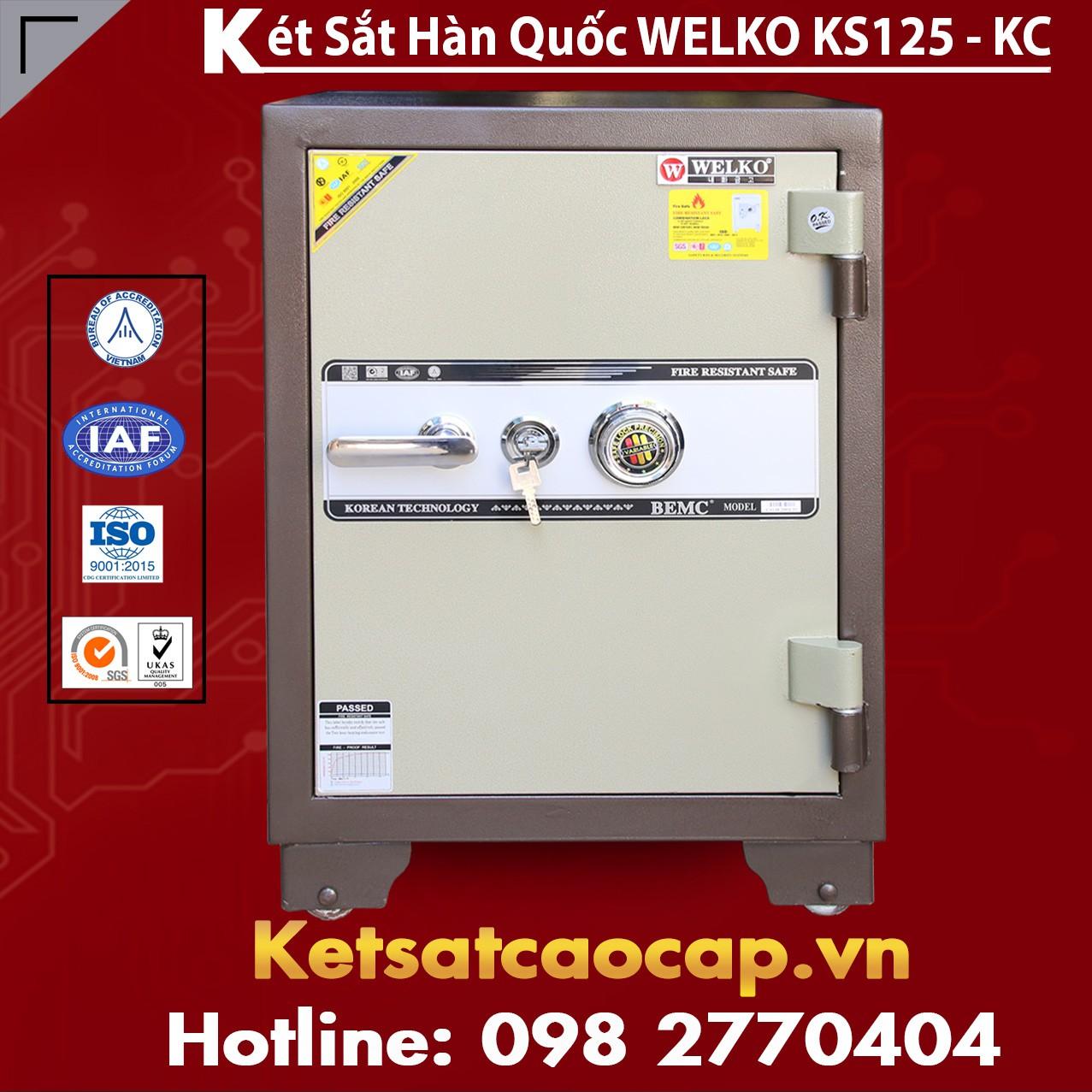 Két Sắt Văn Phòng Welko KS125 - KC Brown