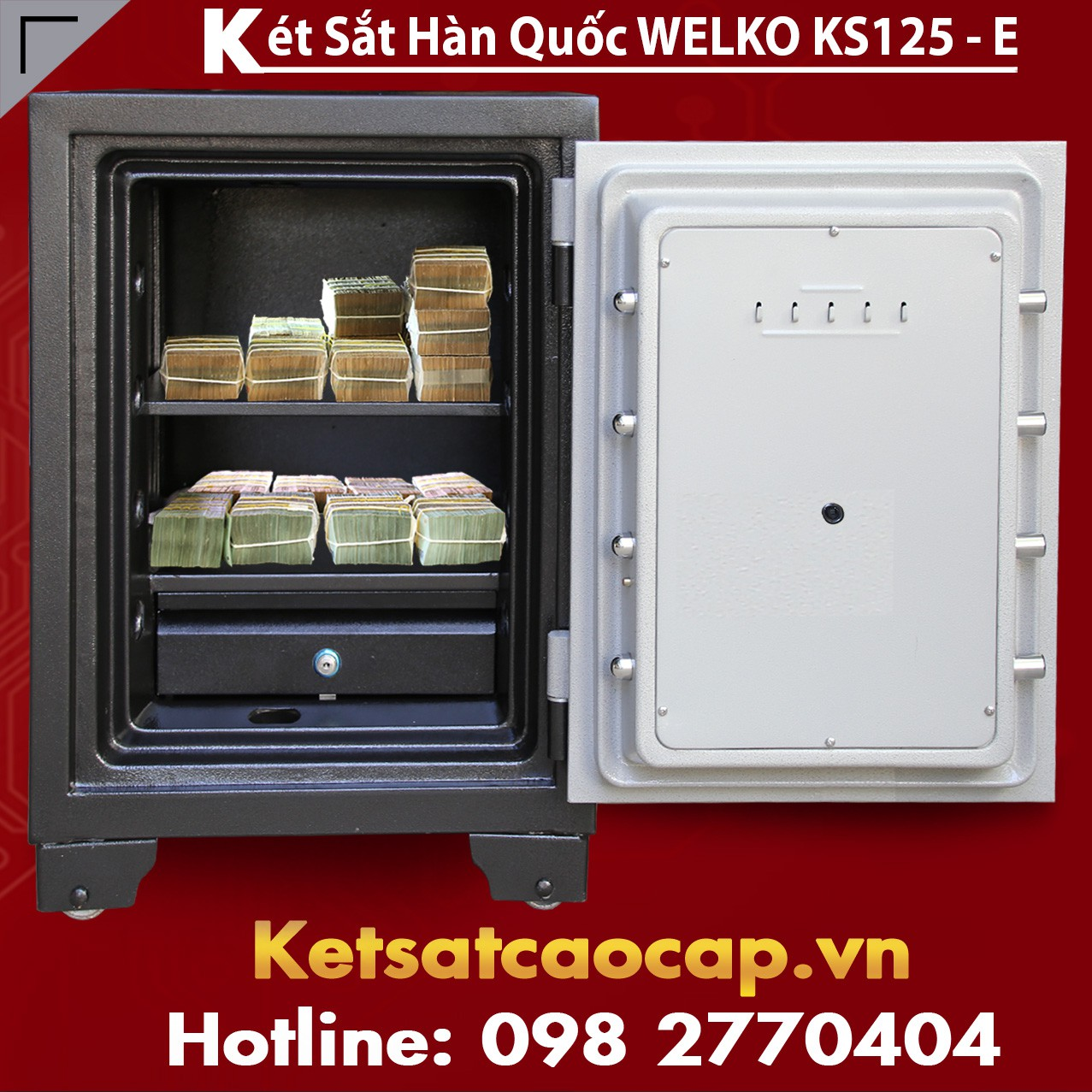 Két Sắt Văn Phòng KS125 - E Gold
