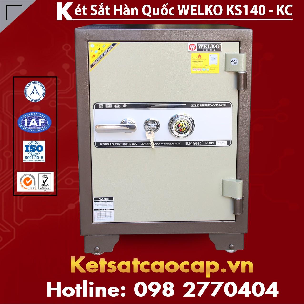 Két Sắt Văn Phòng Welko KS140 - KC Brown