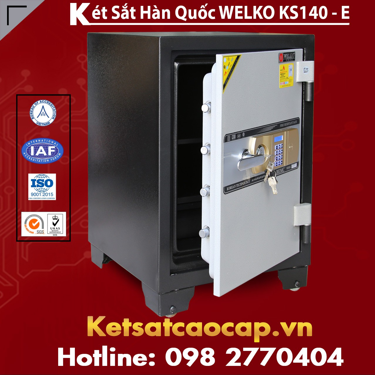 Két Sắt Văn Phòng KS140 - E Gold
