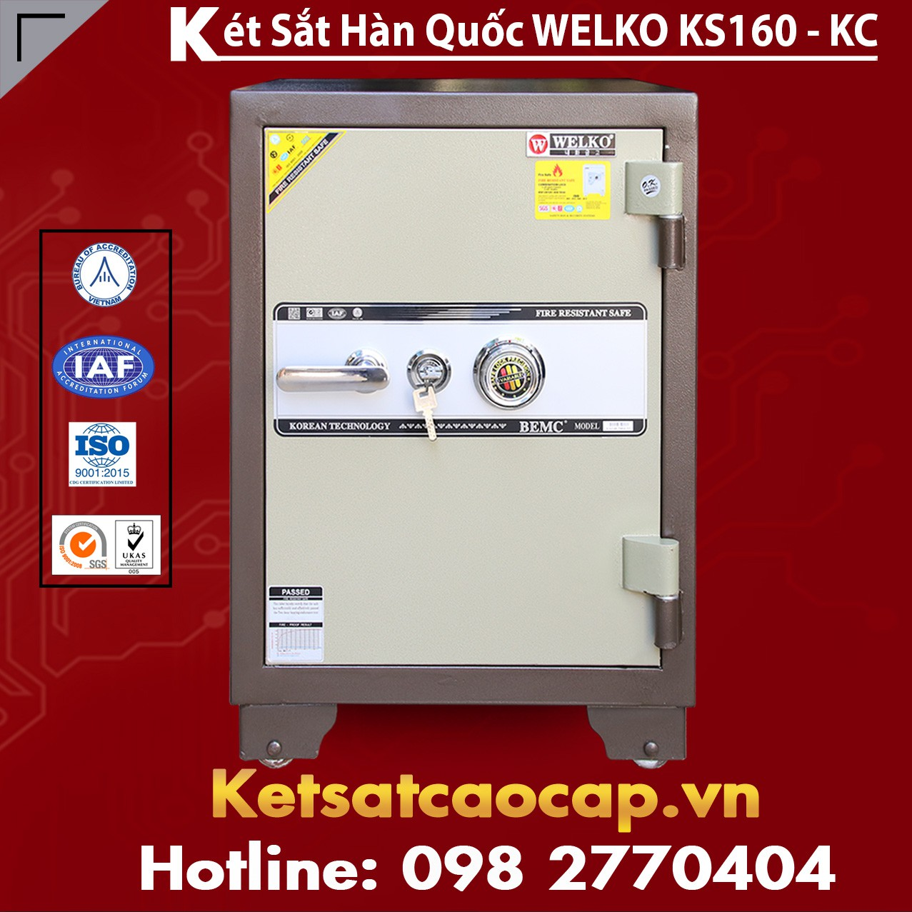 Két Sắt Văn Phòng Welko KS160 - KC Brown