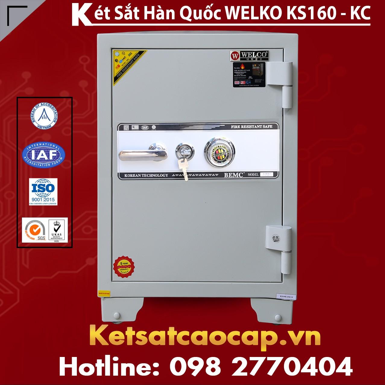 Két Sắt Văn Phòng Welko KS160 - KC White