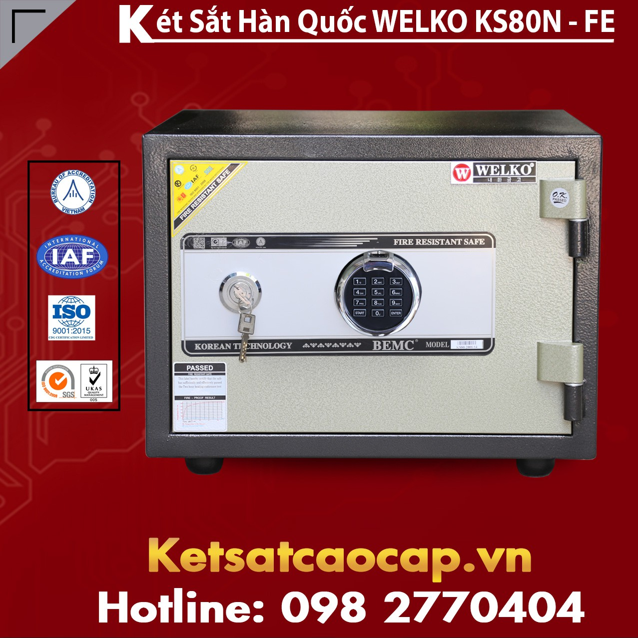 Két Sắt Vân Tay KS80N - FE