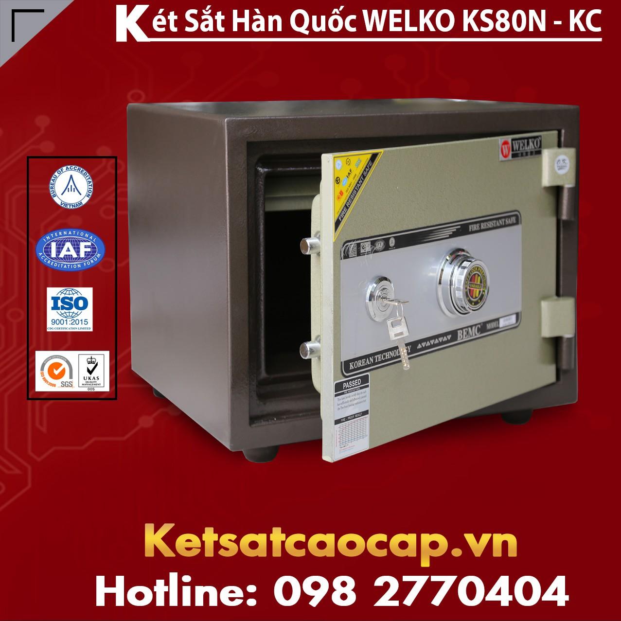 Két Sắt Văn Phòng Welko KS80N - KC Brown