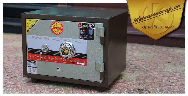 hình ảnh sản phẩm Két sắt văn phòng KS80N Brown-Series Khóa cơ