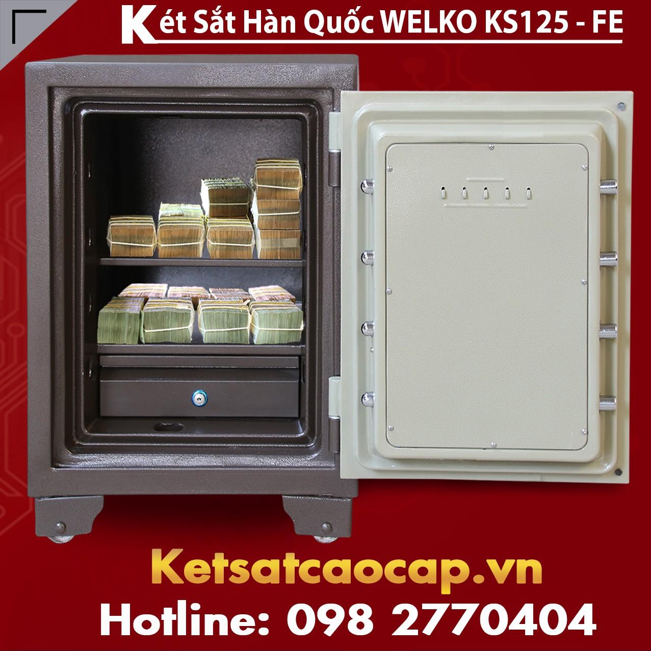 Két Sắt Vân Tay KS125 - Brown FE