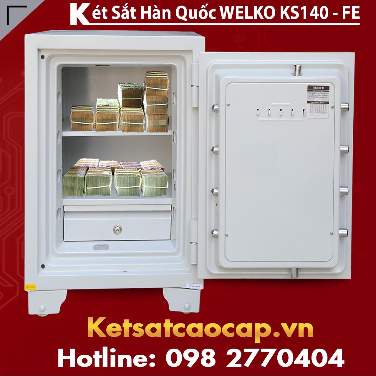 Két Sắt Vân Tay  KS140 - White FE