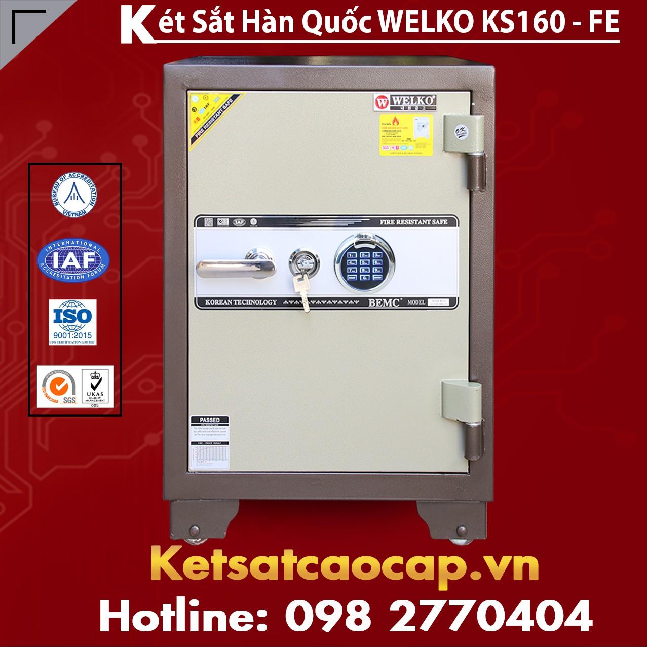 Két Sắt Vân Tay  KS160 - Brown FE