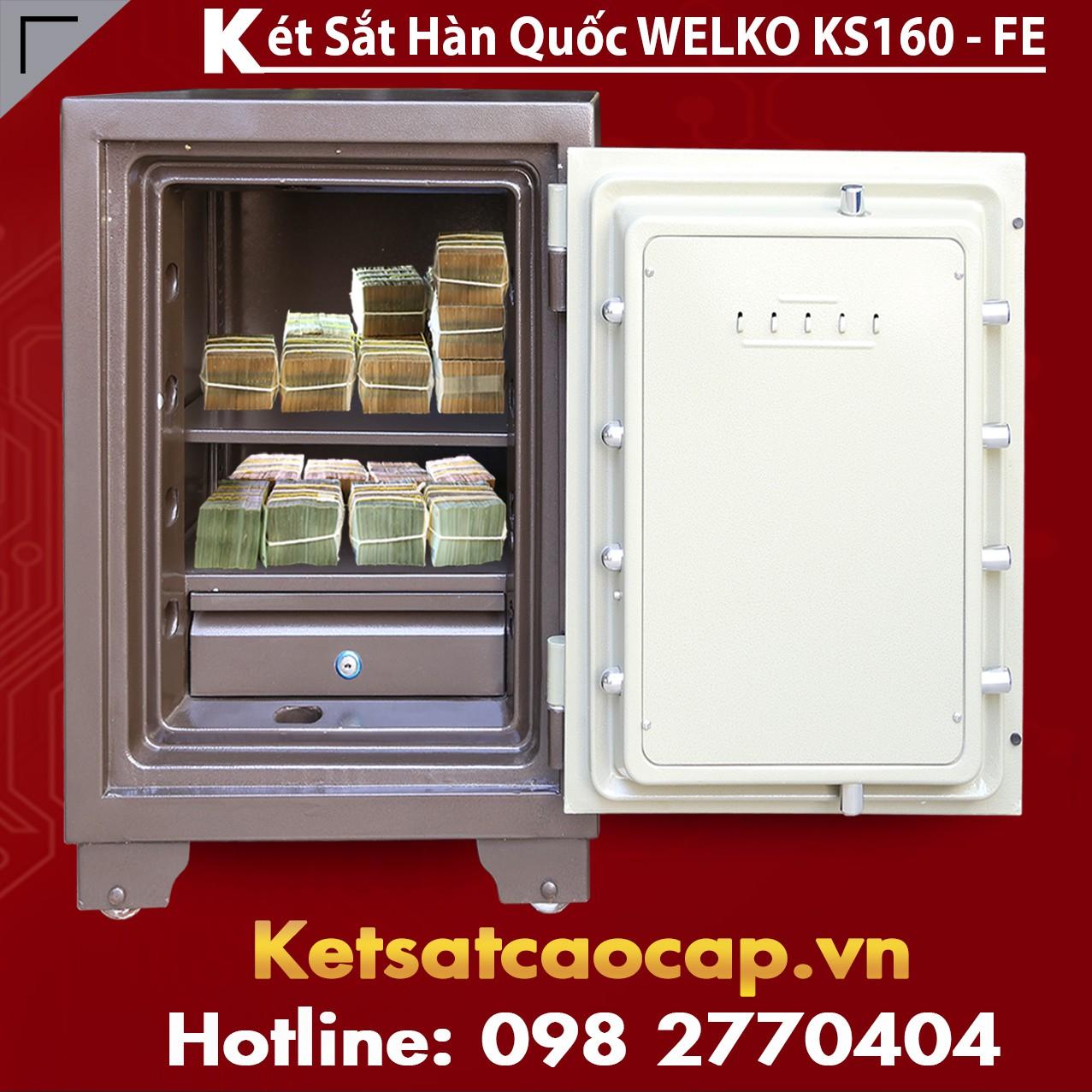 Két Sắt Vân Tay  KS140 - Brown FE