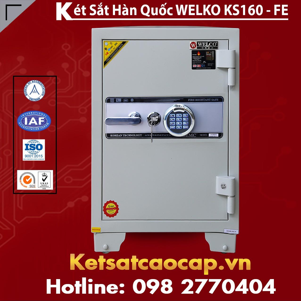 Két Sắt Vân Tay  KS160 - White FE