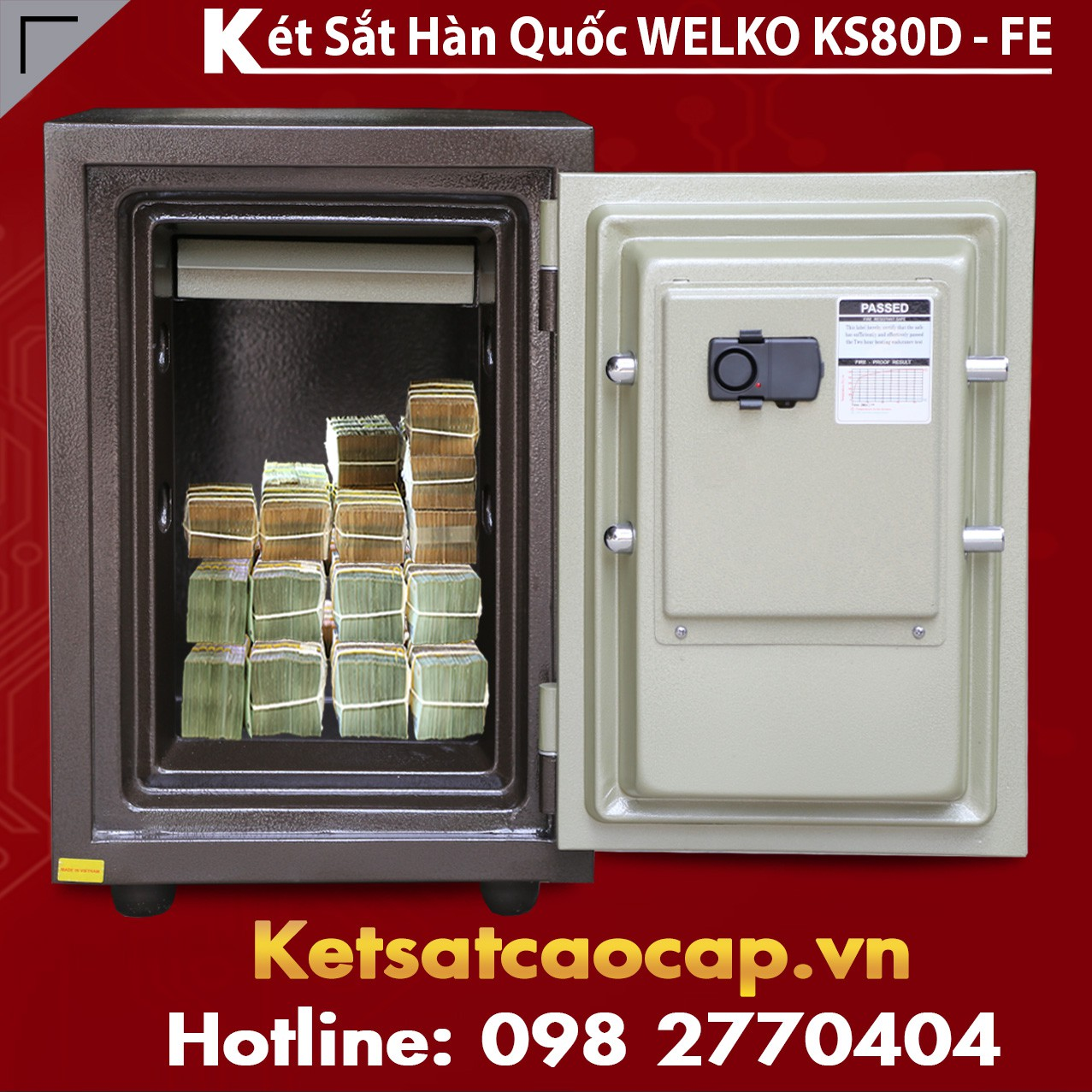Két Sắt Vân Tay KS80D - Brown FE