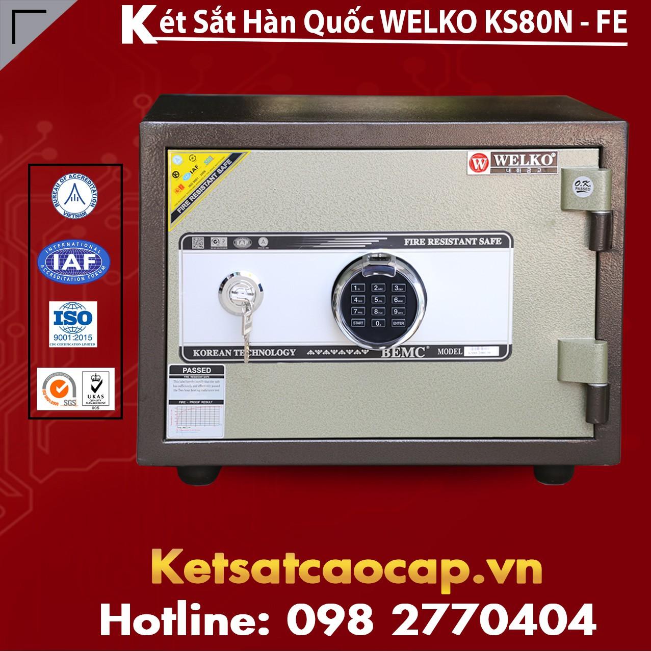 Két Sắt Vân Tay KS80N - Brown FE