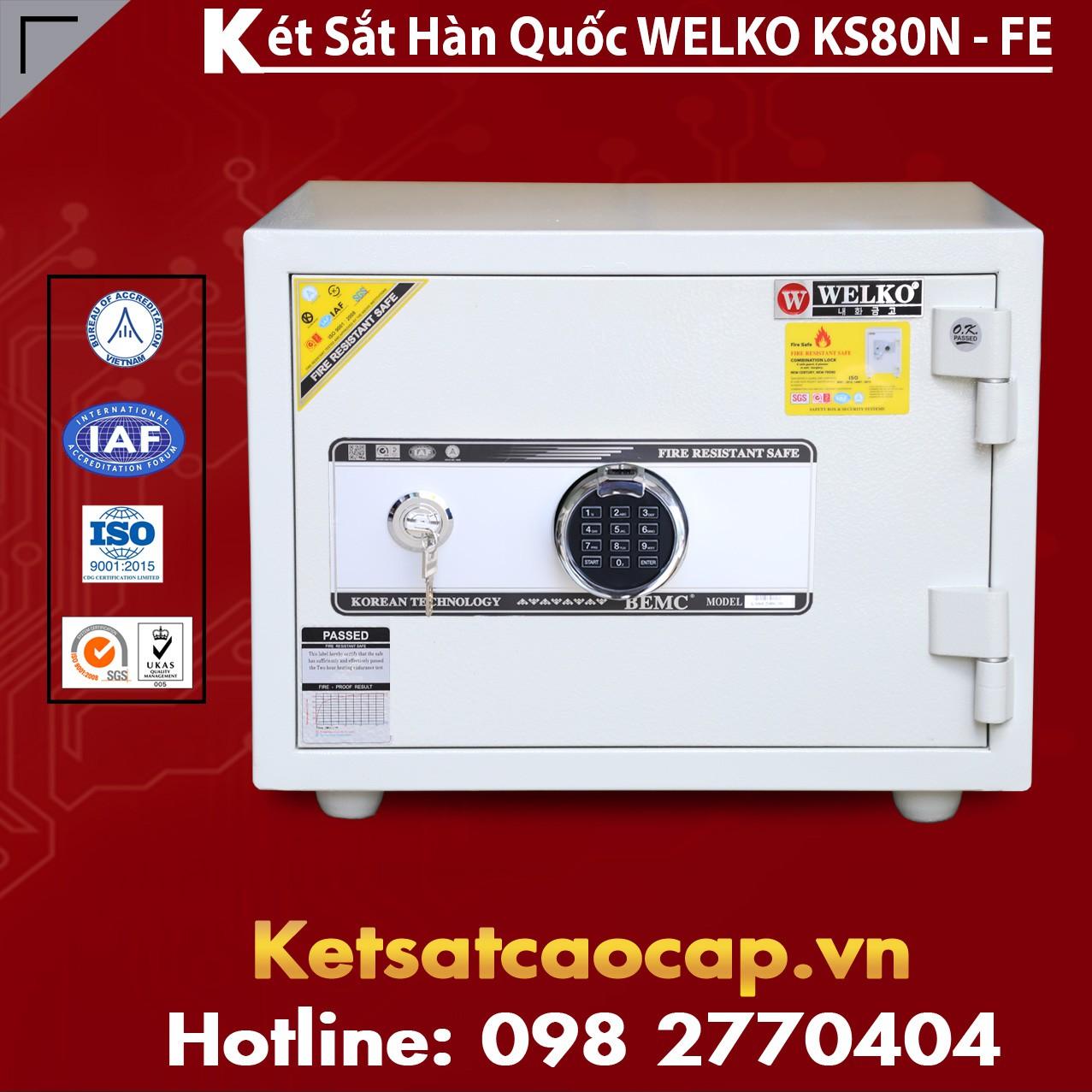 Két Sắt Vân Tay KS80N - White FE