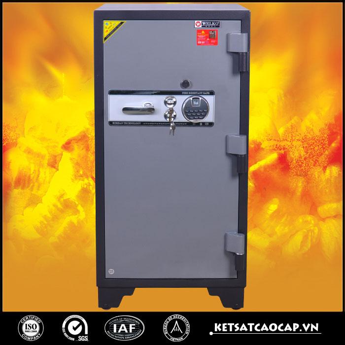 két sắt chống cháy KCC240 vân tay đen