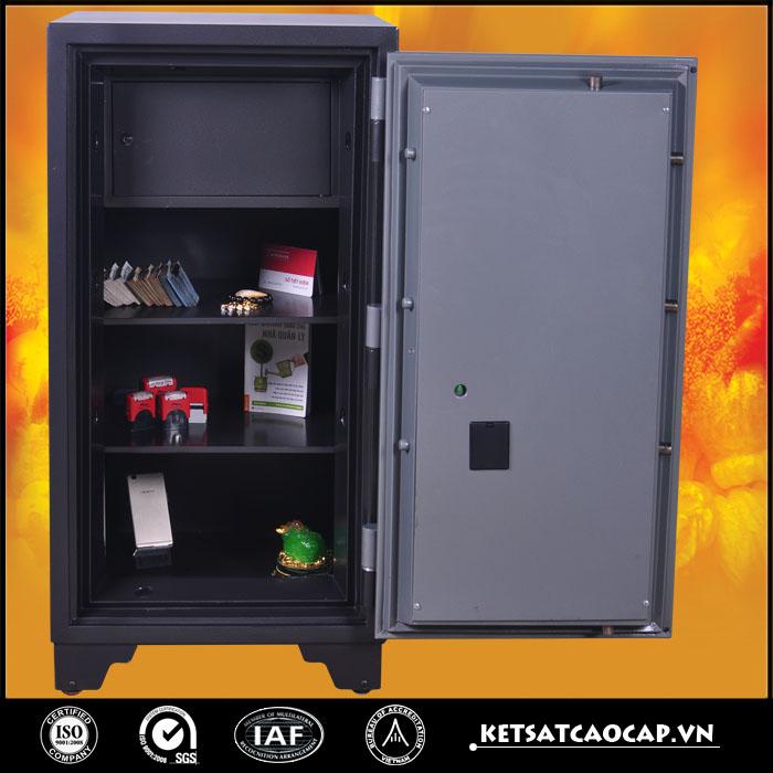 đặc điểm sản phẩm két sắt chống cháy KCC240 vân tay đen