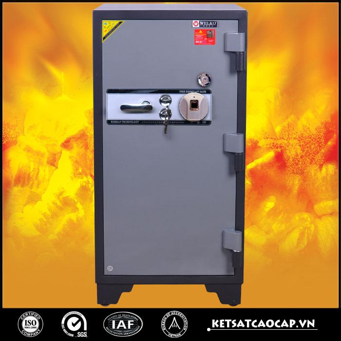 két sắt chống cháy KCC240 vân tay trắng
