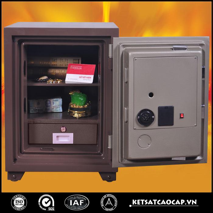 hình ảnh sản phẩm Két sắt an toàn KS140 E Nâu