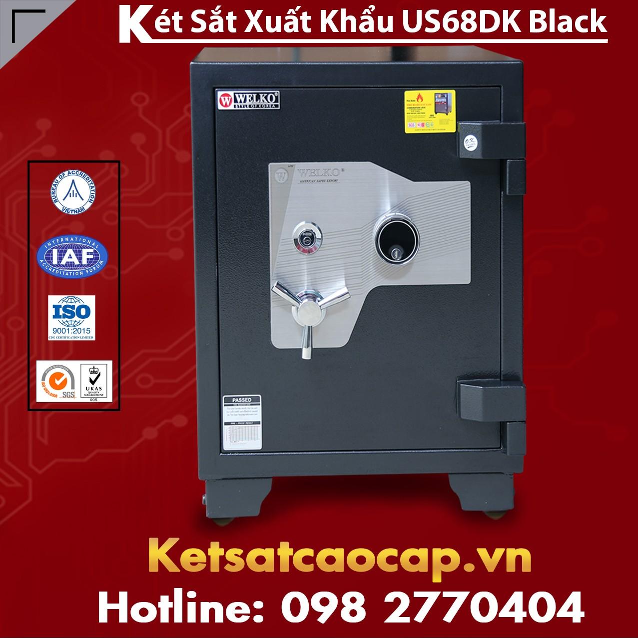 Két Sắt Xuất Khẩu US68 DK Black Vững Chắc Chống Phá Chống Trộm Cao Cấp