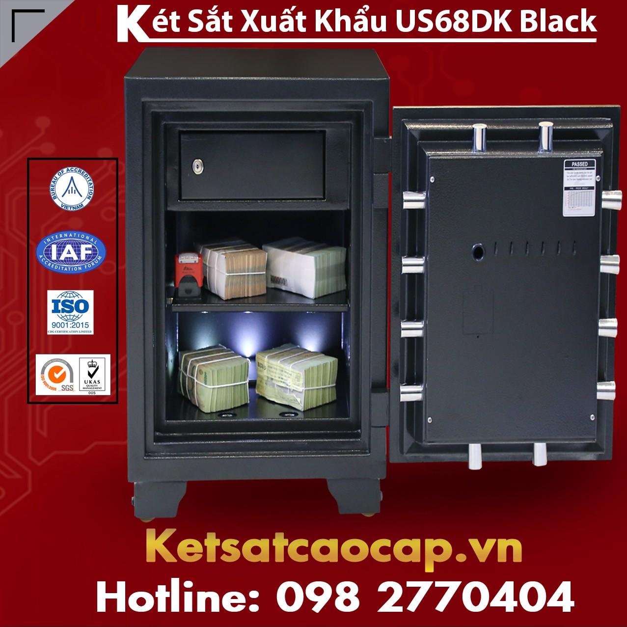 Két Sắt Xuất Khẩu US 68 DK Black An Toàn, Tiện Lợi, Bảo Hành Trọn Đời