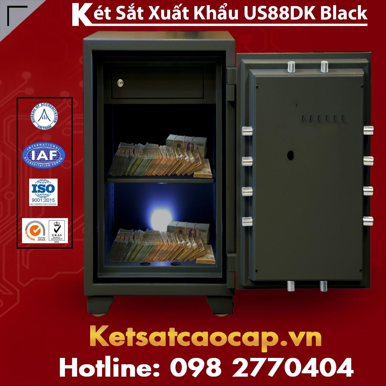 Két Sắt Xuất Khẩu US88 DK Black Miễn Phí Vận Chuyển Bảo Hành Trọn Đời
