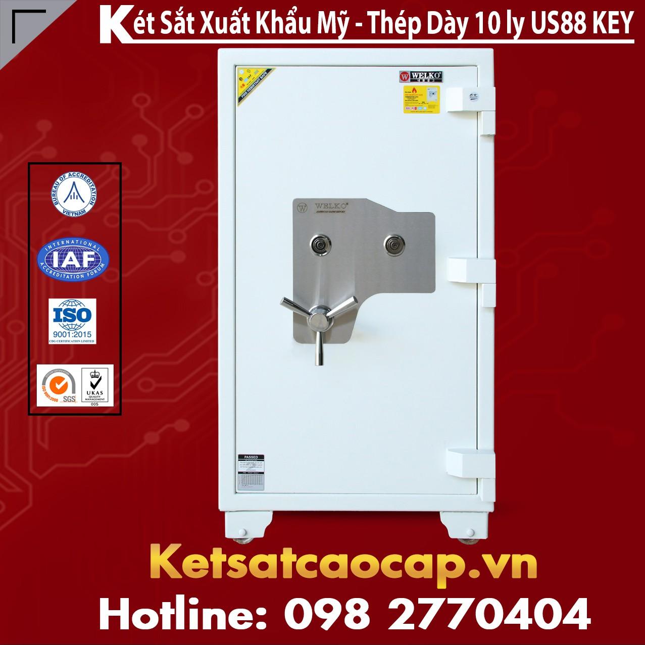 Két Sắt Mini Safes WELKO US1080 KEY White