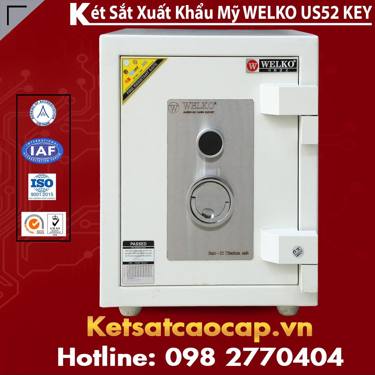 Két Sắt Mini Safes WELKO US52 KEY White