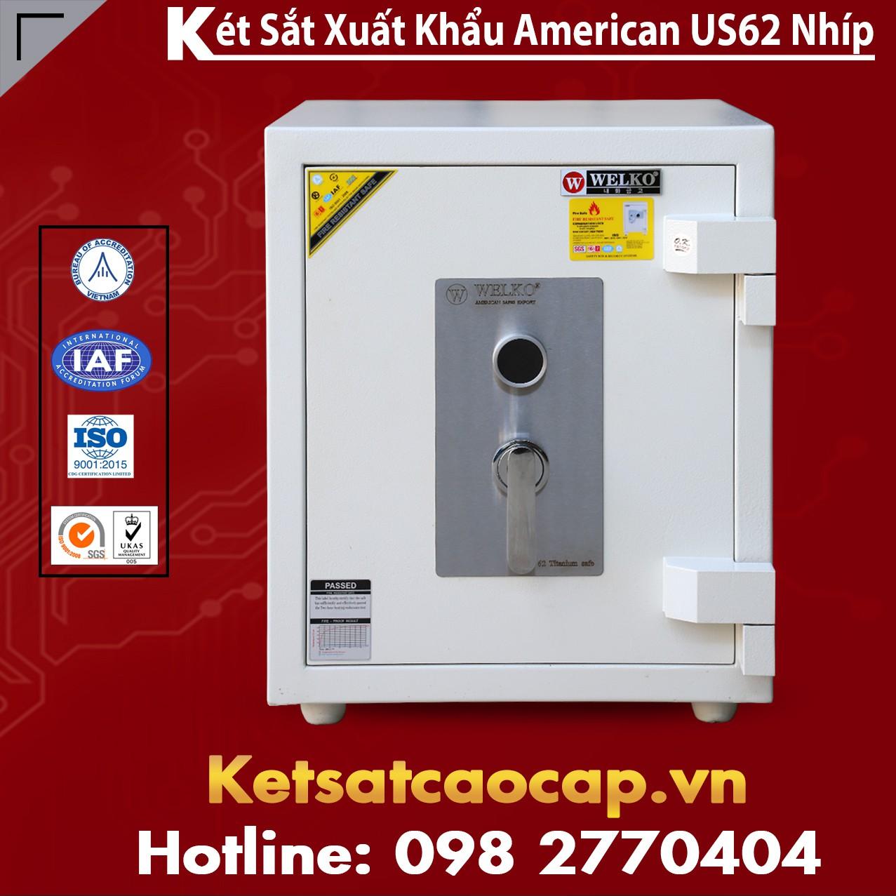 Két Sắt Mini Safes WELKO US62 KEY White
