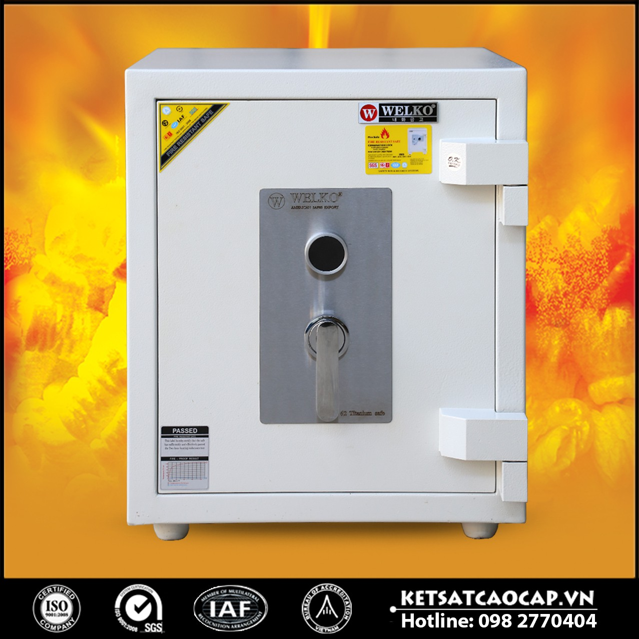 Két Sắt Mini Safes NSA 620 KEY White