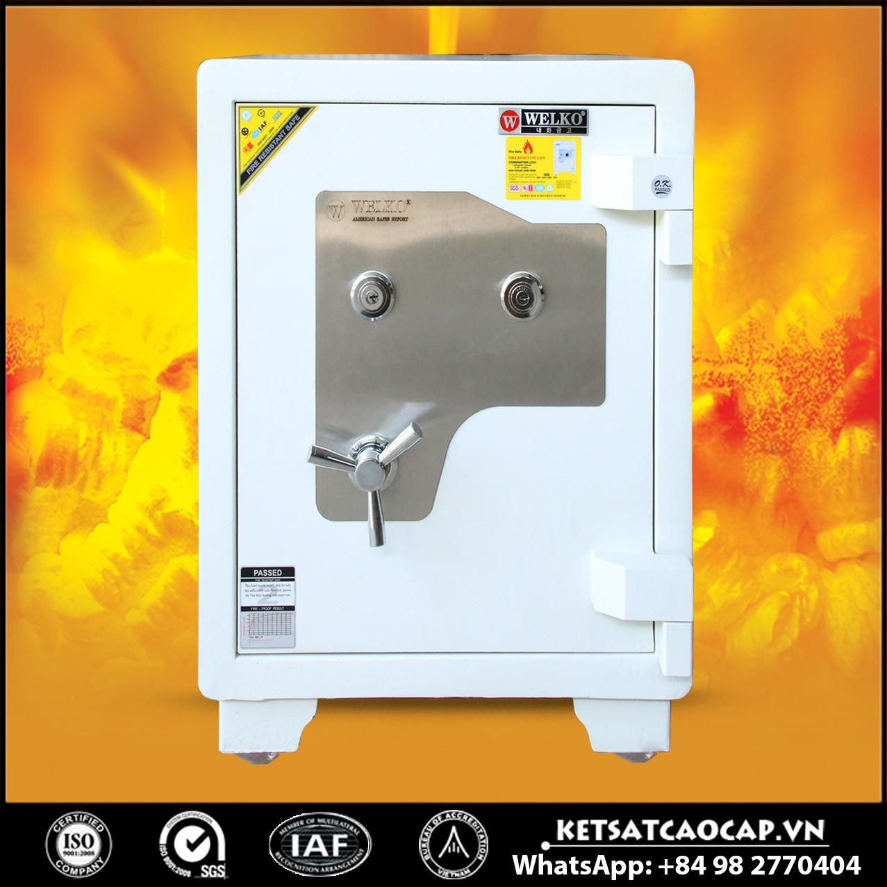hình ảnh sản phẩm Két Sắt Mini Safes NSA 680 KEY White