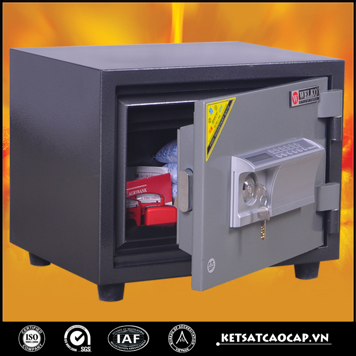đặc điểm sản phẩm Két sắt chống cháy KCC60 khóa điện tử