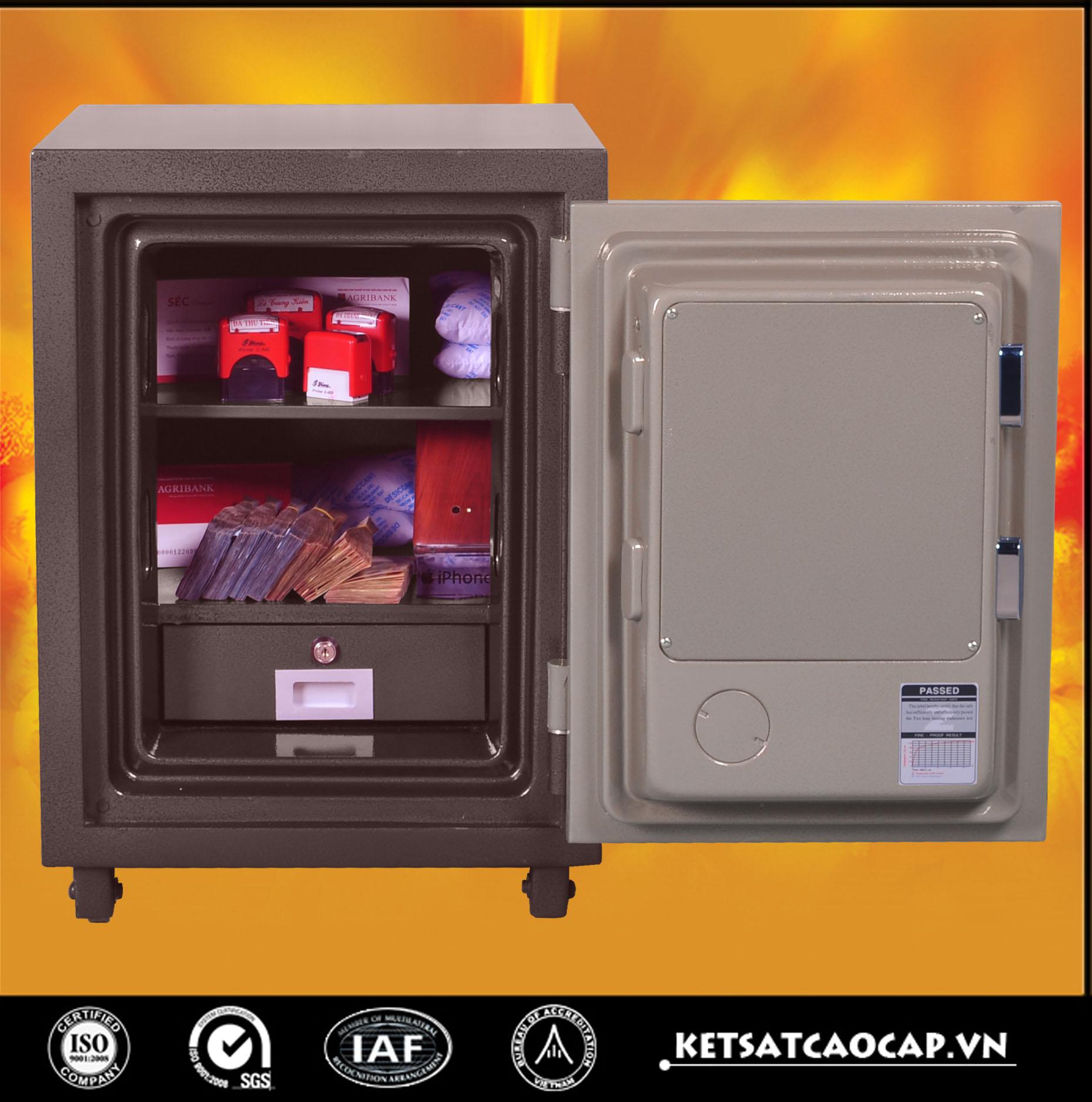 đặc điểm sản phẩm két sắt điện tử KS 125 E  nâu