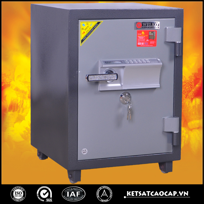 đặc điểm sản phẩm Két Bạc chống cháy W125 điện tử