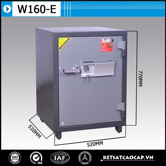 hình ảnh sản phẩm Két Bạc chống cháy W160 điện tử