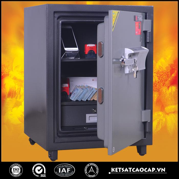 đặc điểm sản phẩm Két Bạc chống cháy W160 điện tử