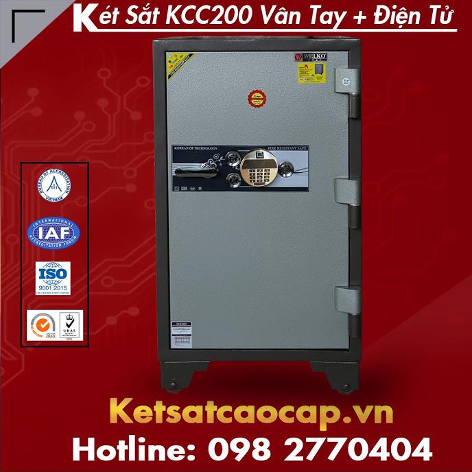Két Sắt Chống Cháy WELKO Safes KCC200 Điện Tử Vân Tay
