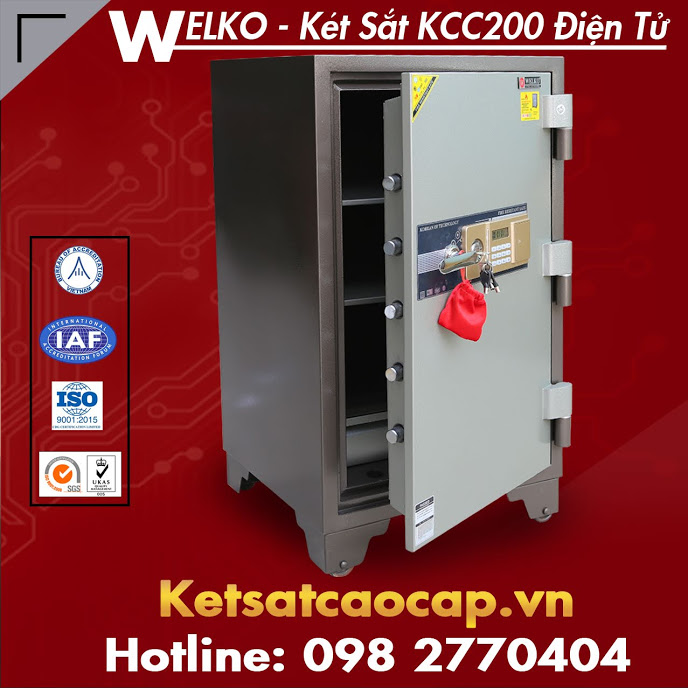 két sắt chống cháy hàn quốc KCC200 vân tay nghệ an