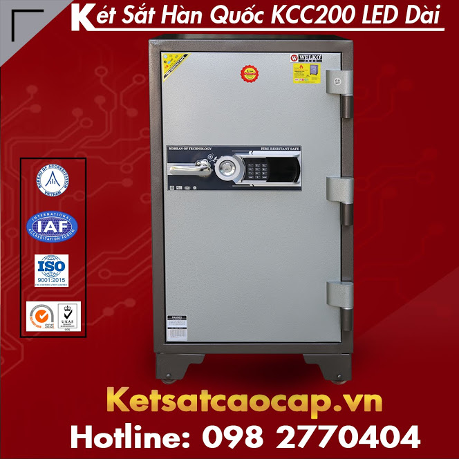 Két Sắt Hàn Quốc KCC200 LED Dài WELKO Safes