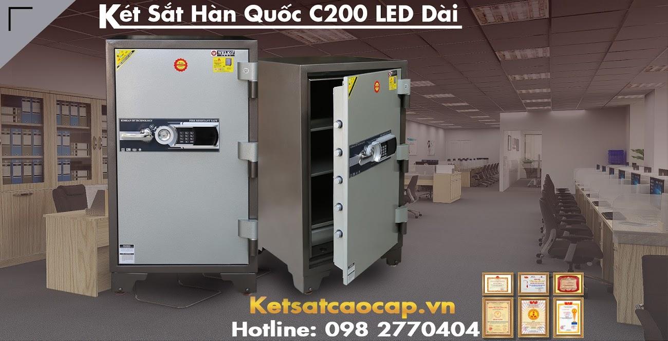 hình ảnh sản phẩm Két Sắt Hàn Quốc KCC200 LED Dài WELKO Safes