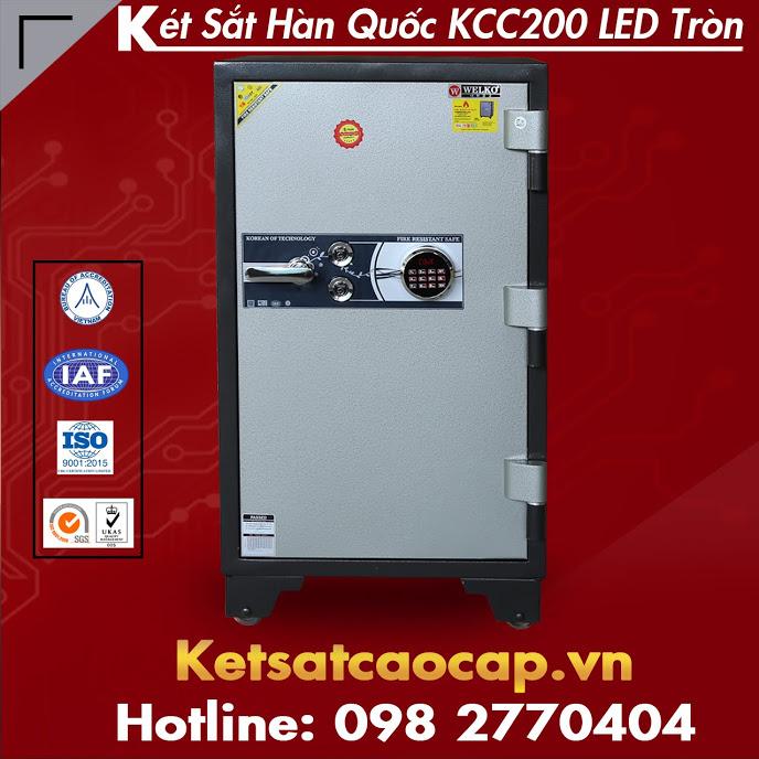 Két Sắt Hàn Quốc KCC200 Điện Tử LED Tròn