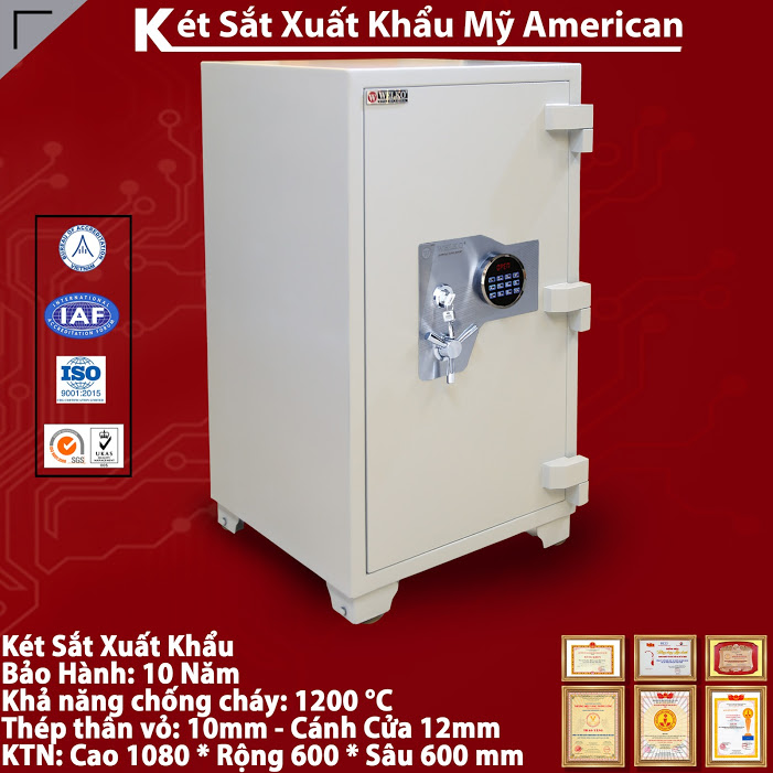 mua ket sat ma so WELKO Fire Resistant Safes tai nghe an