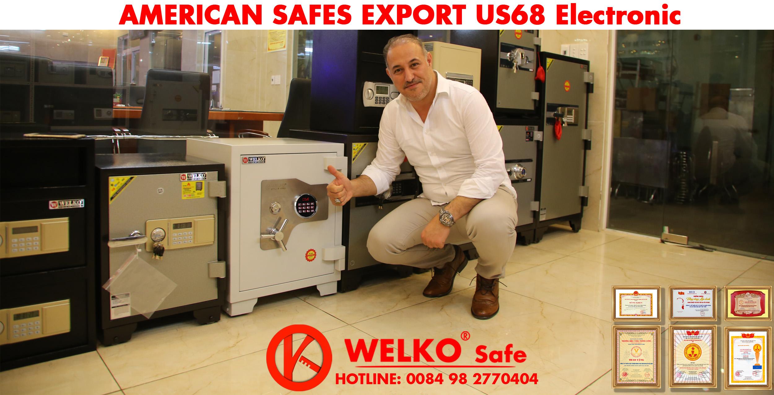 hình ảnh sản phẩm Két Sắt Xuất Khẩu Mỹ US68 Electronic