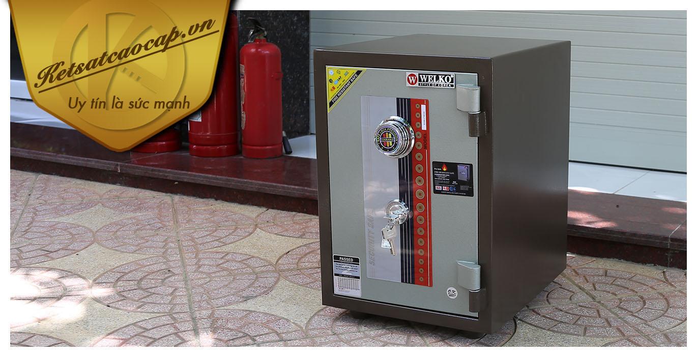 hình ảnh sản phẩm Két sắt văn phòng KS80D Brown-Series Khóa cơ