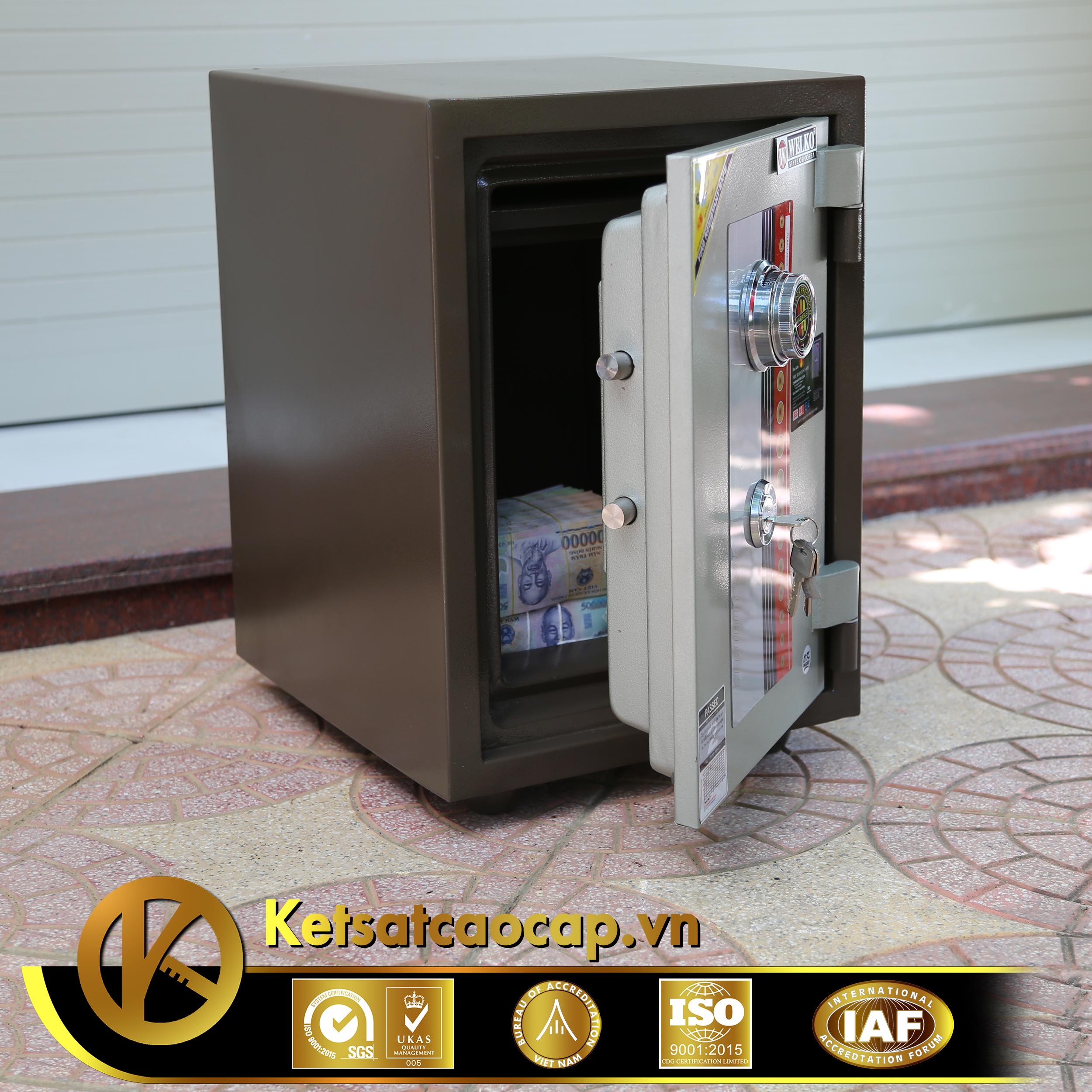 Két sắt văn phòng KS80D Brown-Series Khóa cơ