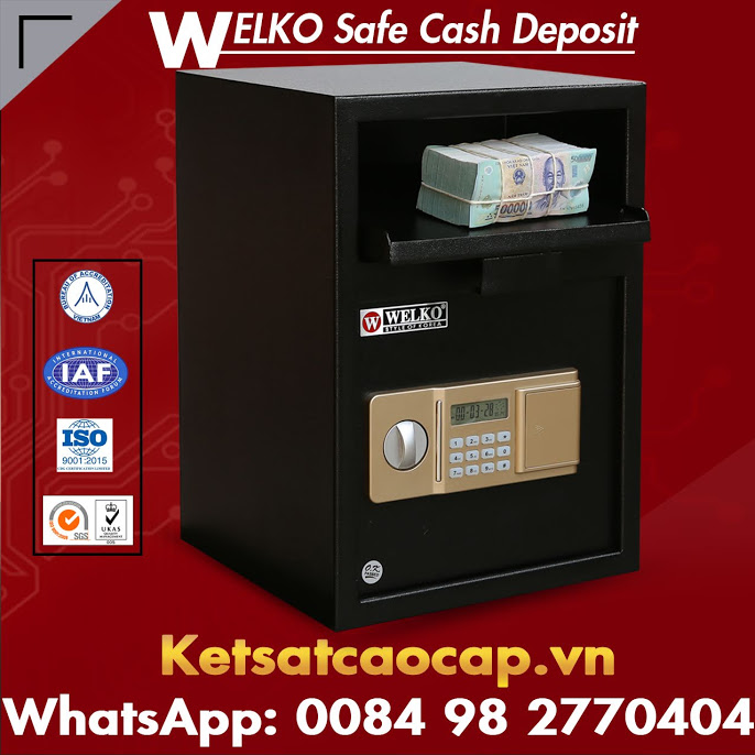 Cash locker safe deposit boxes with drop slot