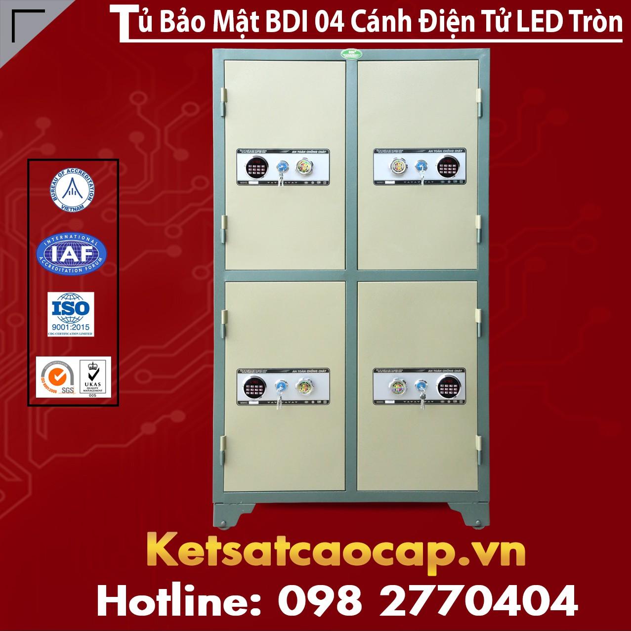 Tủ Bảo Mật BDI 4 Cánh Điện Tử LED Tròn