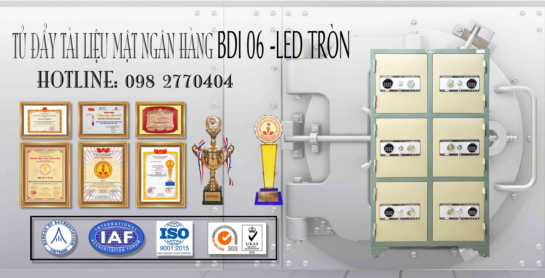 Tủ Bảo Mật BDI 6 Cánh Khoá Điện Tử LED Tròn