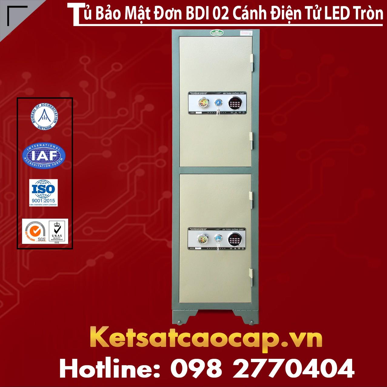 Tủ Bảo Mật Đơn BDI 02 Cánh Điện Tử LED Tròn