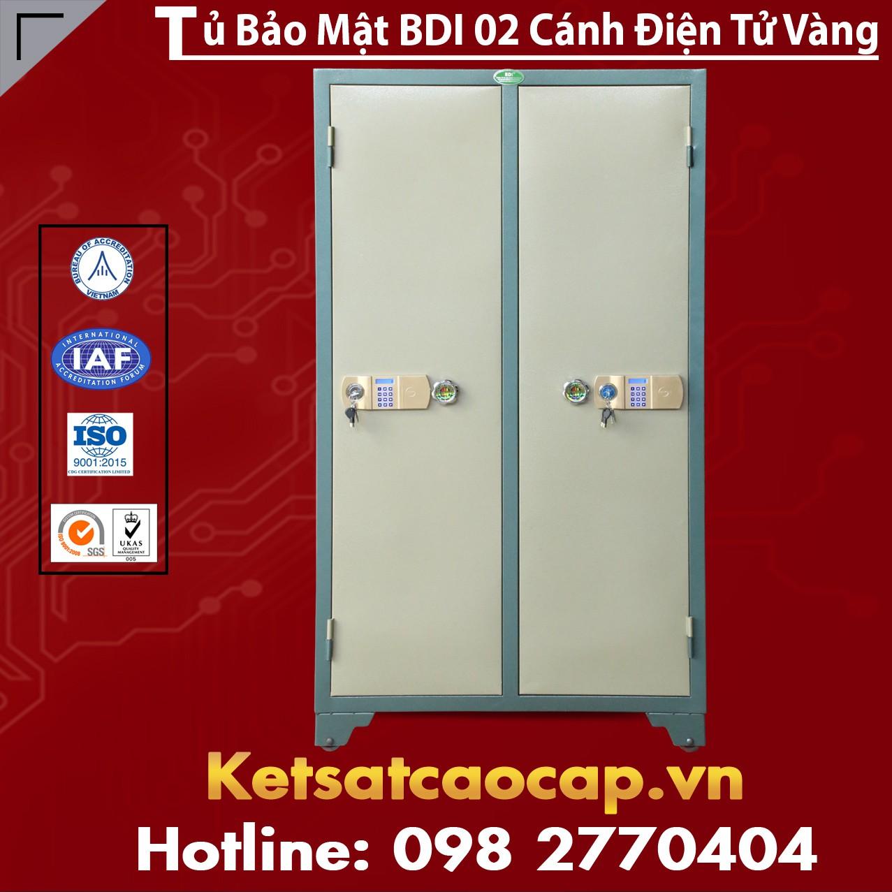 Tủ Bảo Mật BDI 2 Cánh Điện Tử Vàng